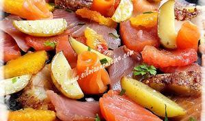Salade de poissons fumés aux agrumes