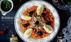 Salade de carottes tunisienne au thon et oeuf dur