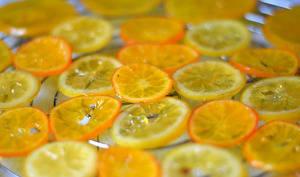 Tranches de citrons confits au sucre