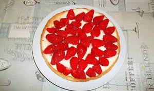 Tarte aux fraises à la panna-cotta