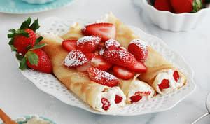 Crêpes fraises Chantilly