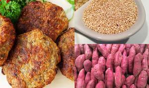 Hamburger de patate douce avec quinoa