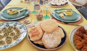 Pita, petits pains cuits à la poêle