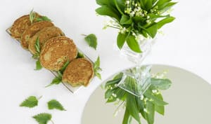 Blinis orties aux herbes
