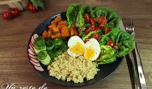 Bouddha Bowl boulgour et œuf mollet