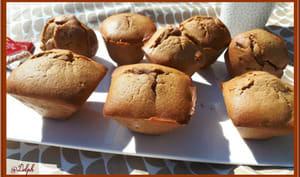 Muffins cœur pâte de spéculoos