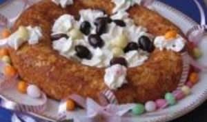 Gâteau Plume en Nid de Pâques