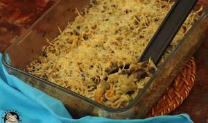 Gratin de pâtes aux champignons