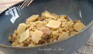 Risotto de quinoa aux champignons et crème de soja
