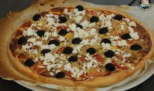 Quiche thon tomates olives feta