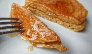 Pancakes healthy aux flocons d'avoine et aux pommes
