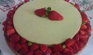 Tarte entremet fraise pistache