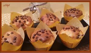 Muffins aux poires et lait concentré