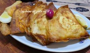 Bricks à l'oeuf thon fromage et câpres