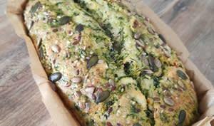 Cake épinard feta aux graines
