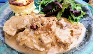 Filet mignon sauce au cidre et mélange de champignons forestiers