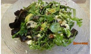 Salade jeunes pousses, poulet, avocat et canneberges