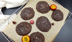 Cookies tout chocolat et pépites de chocolat