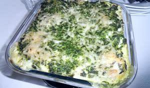 Lasagnes aux épinards et aux 2 saumons
