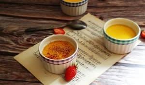 Crème brûlée à la vanille