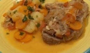 Osso bucco de veau traditionnel à la Milanaise. Recette rapide et facile