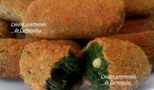 Croquettes d'épinards pois chiche et pignons de pin - Cuisine gourmande de Carmencita