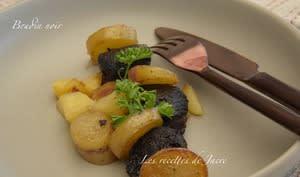 Poélèe de boudin noir aux deux pommes - Les recettes de Jacre/En toute simplicité