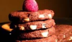 Sablés Chocolat Noir et Blanc, Fleur de Sel et Framboises