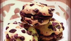Whoopies noisettes chocolat façon cookies