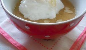 îles flottantes au lait de soja vanillé