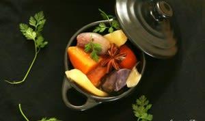 Cocotte de légumes racines au lait de coco et anis étoilé
