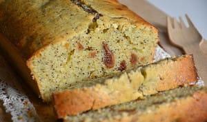 Cake au citron, figues et pavot