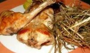 Lapin cuit au foin