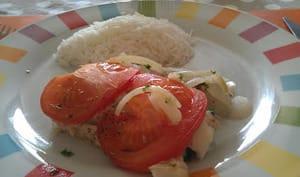 Filet de poisson à la tomate et à la moutarde