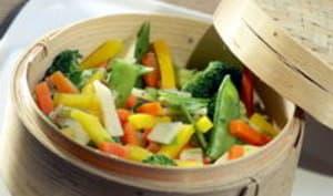 Meunière de fruits de mer aux légumes vapeur