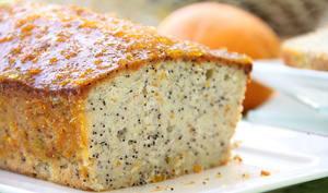 Gâteau à l'orange avec graines de pavot