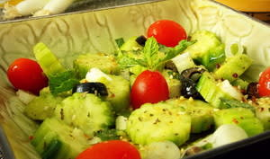 Salade de concombre façon Jamie Oliver