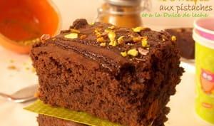 Brownies aux pistaches et confiture de lait