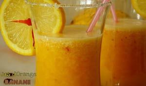 Jus d'orange et banane