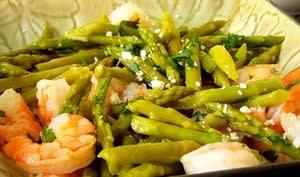 Salade d'asperges aux crevettes