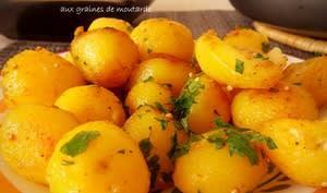 Pommes de terre nouvelles sautees aux graines de moutarde