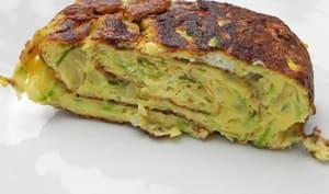 Omelette roulée aux courgettes