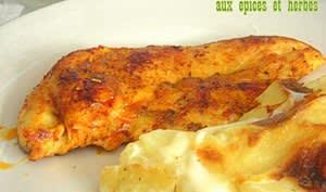 Escalope de poulet grillée