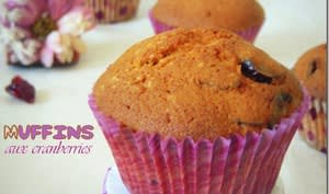 muffins aux cranberries
