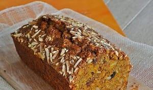 Cake potimarron / épices / raisins / amandes