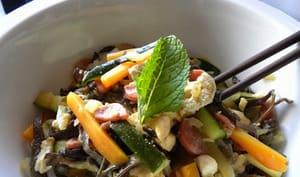 Wok de légumes à la saucisse chinoise