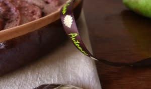 Gratin au chocolat de poire pochée aux épices