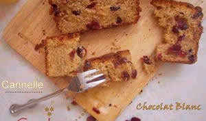 Cake aux cranberries et cannelle