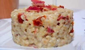 Risotto de blé aux tomates séchées et pancetta