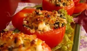 Tomates farcies aux epinards